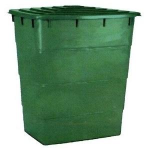 Square Barrel 300 Litre + lid 80x60x89 cm