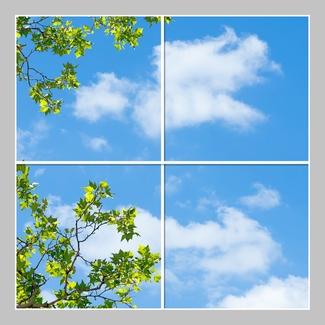 4 Panels Format 120cm x 120cm different designs