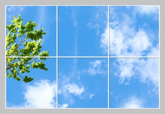 6 Panelen Format 180cm x 120cm Diverse Designs