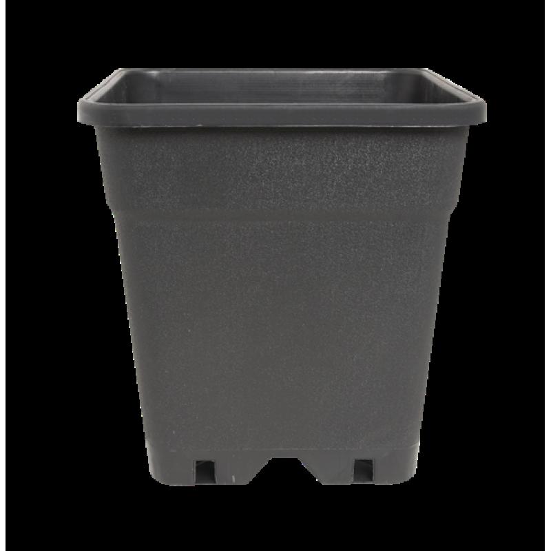 Plantcontainer 24x24x28,3 cm. 11 Liter zwart