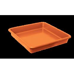 Opvangbak vierkant oranje tbv 11 Liter pot