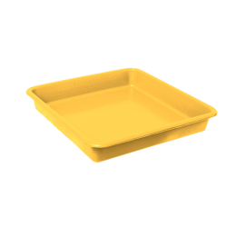 Opvangbak vierkant geel tbv 11 Liter pot